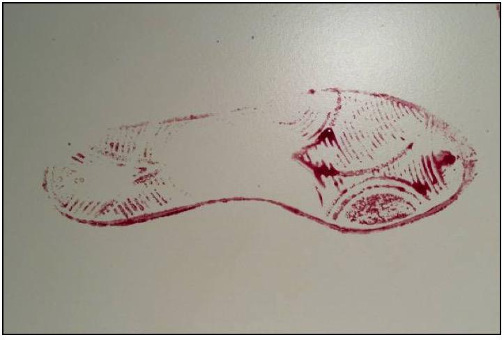 blood transfer pattern